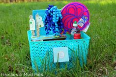Make your own bubble kit gift basket!