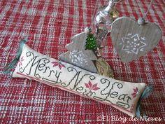 Merry New Year  de The Stitcherhood  punto de cruz cross stitch point de croix navidad christmas noel