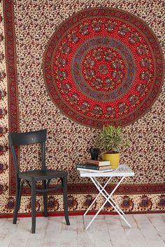 Elephant Border Tapestry Throw