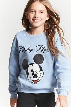 Product Name:Girls Mickey Sweatshirt (Kids), Category:girls_tops, Teenage Girl Outfits, Kids Outfits Girls, Cute Girl Outfits, Trendy Outfits, Stylish Dresses, Tween Girls, Tween Fashion, School Fashion, Fashion Fashion