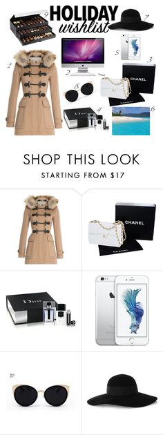 """Untitled #117"" by emelie-mely on Polyvore featuring Burberry, Chanel, Christian Dior, Una-Home, Eugenia Kim, SANDY, contestentry and 2015wishlist"