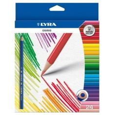 From 4.99 Lyra Osiris Adult Colouring Pencils - Triangular Shape Anti-break Leads Wallet Of 24 - Ideal For Art Therapy