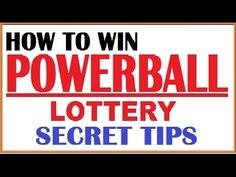 How to win Powerball lottery - Secret Tips Picking Lottery Numbers, Lucky Numbers For Lottery, Lotto Winning Numbers, Lotto Numbers, Winning Powerball, Lotto Winners, Lottery Winner, Winning The Lottery, Lottery Strategy