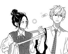 「Hirunaka no Ryuusei」Mamura Daiki × Yosano Suzume Couple Anime Manga, Manga Anime, Art Manga, Manga Drawing, Anime Art, Daytime Shooting Star, Shooting Stars, Manga Love, Anime Love