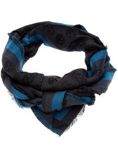 Alexander McQueen skull print scarf | satement scarves for the boys | mens scarf | menswear | mens style | mens fashion | wantering http://www.wantering.com/mens-clothing-item/skull-print-scarf/ab76z/