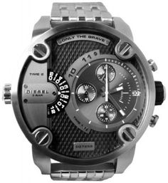 Relógio Diesel SBA Dual Time Zone Stainless Steel Men's Watch - DZ7259 #Relogios #Diesel
