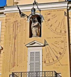 Awesome sundial in Parma, Italy - date unknown.