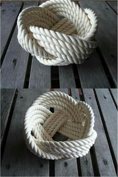 Roped Man Cave DecorKnot Roped Man Cave Decor Aprenda como hacer manualidades para todos Flower Girl Basket Natural Jute Rope Rope Bowl with Handle Rope Crafts, Beach Crafts, Men Crafts, Deco Marine, Rope Decor, Cotton Bowl, Rope Knots, Nautical Bathrooms, Rope Basket