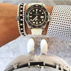 spring is in the air perlon straps are on the wrist. Rolex GMT Master II (116710) bringing out the best in this outfit. by stylewoes