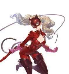 Persona 5 Ann, Persona 5 Joker, Character Drawing, Character Concept, Character Design, Shin Megami Tensei Persona, Bright Blue Eyes, Identity Art, Anime Style