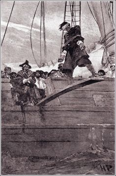 Pirates:  #Pirate walking the plank.