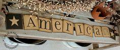 Primitive AMERICA 1776 BANNER Garland Summer by thecracklingcrows, $30.00