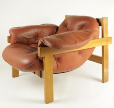 Modernist Brazilian Style Leather Lounge Chair in Manner of Percival Lafer 1960s | eBay