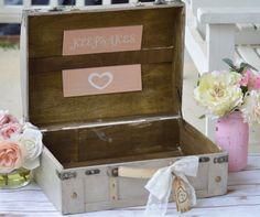 personalized keepsake box, shabby chic wedding memories box, rustic wedding scrapbook, advice box, bridal shower gift, gift for the bride