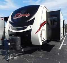 2016 New K-Z Manufacturing SPREE 339 RKS LX Travel Trailer in Florida FL.Recreational Vehicle, rv, KZ has done it again with this 2016 Spree 339RKS LX when it comes to luxurious traveling! The 2016 models have the new high-gloss Ivory color-infused gel fiberglass sidewalls and a smooth streamline painted front cap. This triple-slideout model includes the LX Package which consists of aluminum wheels, an LED Flat Screen TV, porcelain toilet, equa-flex suspension, Katching Z's mattress, LED…