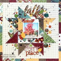 #papercrafting #scrapbook #layout - Simple Stories | Pin It & Create It!