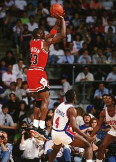 Michael Jordan and Joe Dumars (Detroit Pistons)