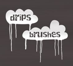 Drips Brush Set - Splat Photoshop Brushes | BrushLovers.com
