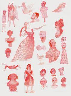 sound is the color (figuregheads, folk figures, greco-romans) - julie morstad