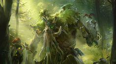 1920x1080 Wallpaper enchantress, treant protector, dota 2, tree, forest, green, valve
