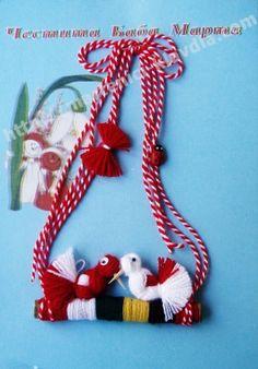 Мартеници - Клавдия - ръчно изработени мартеници, материали за мартеници, продажба на едро и дребно. martenici, материали Easter Bunny Template, Bunny Templates, Christmas Crafts For Kids, Christmas Ornaments, Stitch Patterns, Crochet Patterns, Small Blankets, Different Stitches, Crochet Round