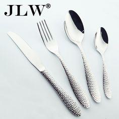 Серебряный набор столовых приборов из нержавеющей стали посуда 24 шт. качество вилка ложка нож столовые приборы ресторан посуда уценки продажа