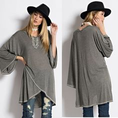 Boho Oversized Bell sleeve Tunic S M L This top goes perfect with a waist belt skinny jeans and some heels so Now available in S M L ❌No trades or Paypal ❌Please do not purchase this listing I will make a separate one for you.✉️Any questions please contact me! Tops Tunics