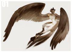 01 Harpy by wood-illustration.deviantart.com on @deviantART