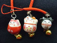 A Cute Japanese Lucky Maneki Neko Bell Cat Mobile Phone, Bag, Handbag, Zip Charm   eBay