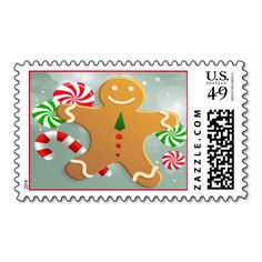 Holiday Gingerbread Man Postage  #gingerbread #postage