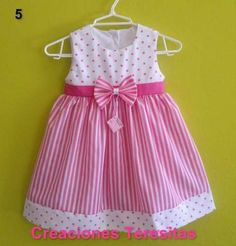 Diy Crafts - In this fashion world, Frock design is growing day by day and all the people Baby Girl Frocks, Frocks For Girls, Little Dresses, Little Girl Dresses, Girls Dresses, Party Dresses, Baby Frock Pattern, Frock Patterns, Baby Dress Patterns