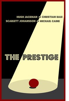 Another minimalist poster for the movie The Prestige