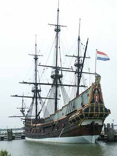 Beautiful ship...This is a replica of the 1628 Dutch merchant ship Batavia. A wild fate awaits it. More photos available at the link.