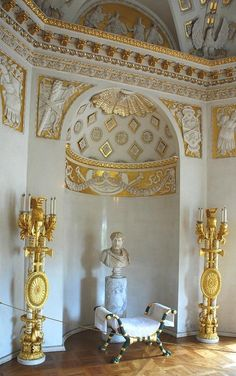Interiors of the Palace Pavlovsk , Russia