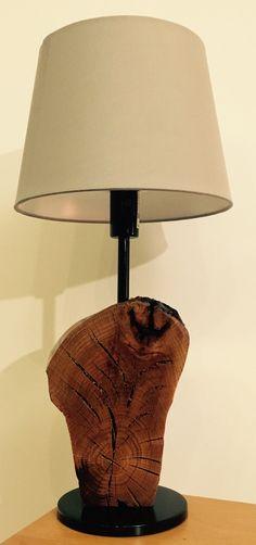 Holzlampe, IKEA Lampenfuss und Lampenschirm