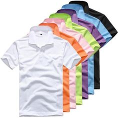 bba0de300 Fashion Men s Clothing Solid Classic Polo Shirts Casual Tops Tees 15 colors