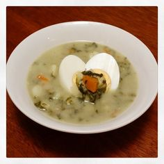 Mums Traditional Polish Szczaw / Sorrel Soup - Great To Make In Bulk And Freeze For Lazy Day Meals (Minus The Egg) | The Grizzly Bear Perth