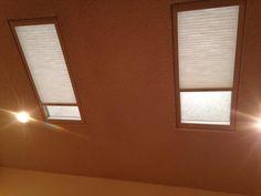 Hunter Douglas Duette Architella Honeycomb Shades With SkyLift For Sky Light Windows In Carrollton, TX