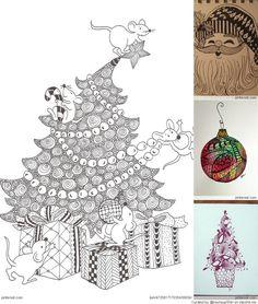 Free Zentangle How To Patterns | Christmas-Zentangle-Patterns.jpg?p=15