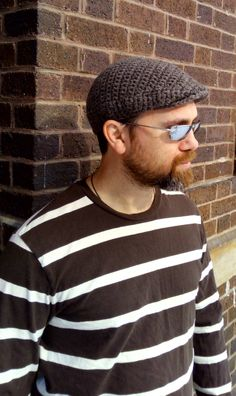 Crochet Flat Cap - Made of 100% natural fisherman's wool by ElevatedFibers on Etsy