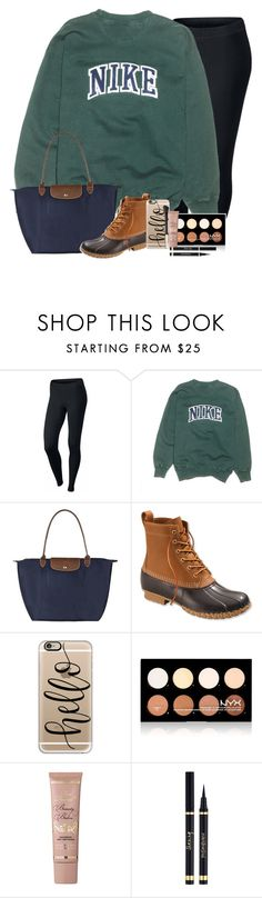 """""""RTD!!!!!"""" by simplesouthernlife01 ❤ liked on Polyvore featuring NIKE, Longchamp, L.L.Bean, Casetify, NYX, Too Faced Cosmetics, Yves Saint Laurent and 30DaysOfChristmas2k16"""