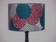 Geometric Circles Lampshade Teal & Pink 30cm by AnkaraLampshades, £35.00
