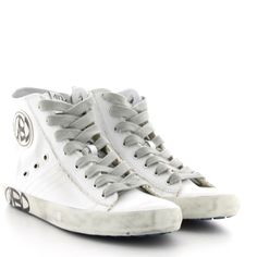 Sneakers mid in vitello washed.Zip laterale.Fodera tessuto.Fondo gomma logo laterale.Made in Italy