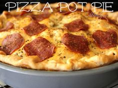 ~Pizza Pot Pie!    This looks great but would have to replace cream cheese with something else