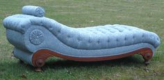 The coolest fainting couch I've ever seen by Lo's Upholstery Shop