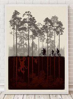 Stranger Things party ideas:Stranger Things Poster | Wonder Wall Art