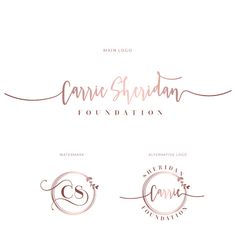 Premade rose gold logo for a wedding planner event by InkyJar