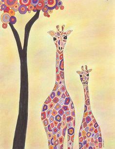 Room to Grow Fine Art Print, Giraffes, Baby Giraffe, Art Print. $30.00, via Etsy.