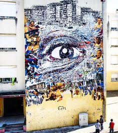 by Vhils in Loures, Portugal, 6/15 (LP)