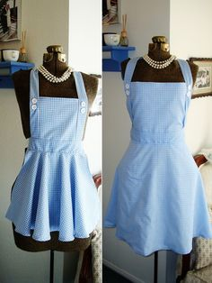 dorothy wizard of oz mom daughter costume aprons. $65.00, via Etsy.